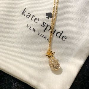 Kate Spade By The Pool Pineapple necklace